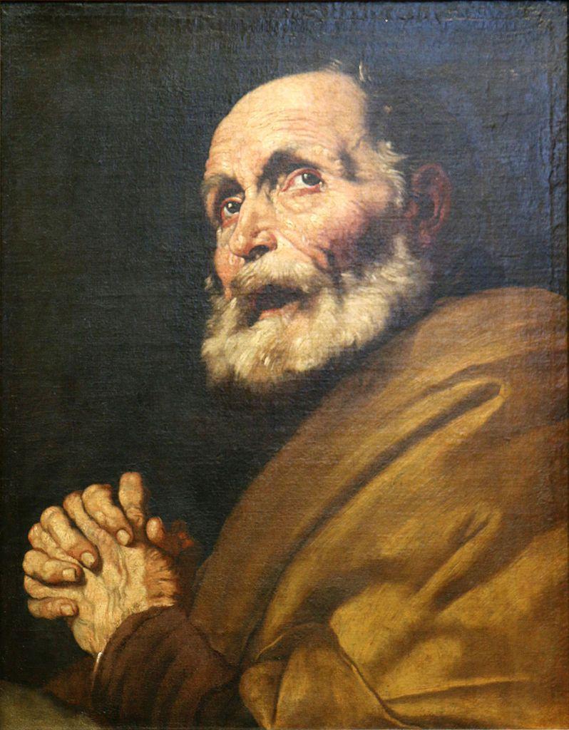 """""""Les larmes de Saint Pierre"""", par José de Ribera (1591-1652), Musée de Carcassonne. (Photo Wikimedia commons)"""