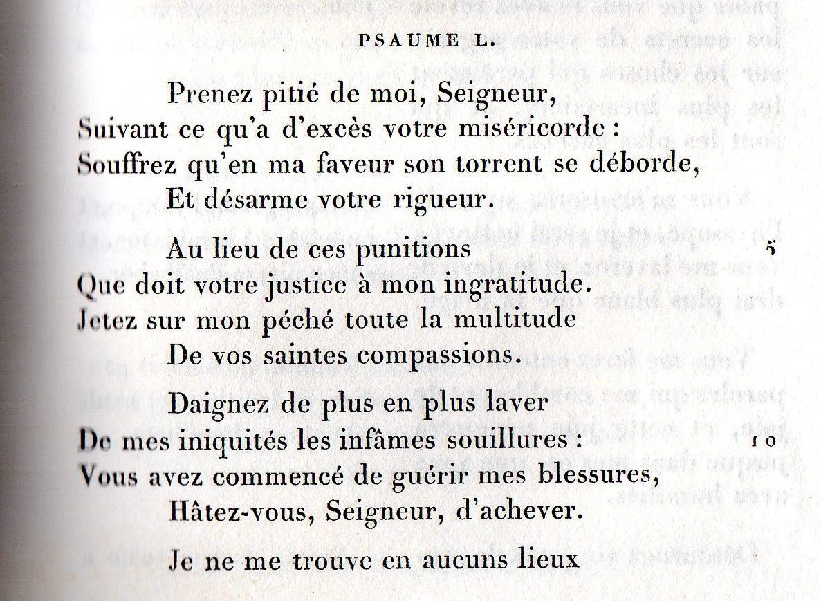 Psaume 50 - Miserere ...