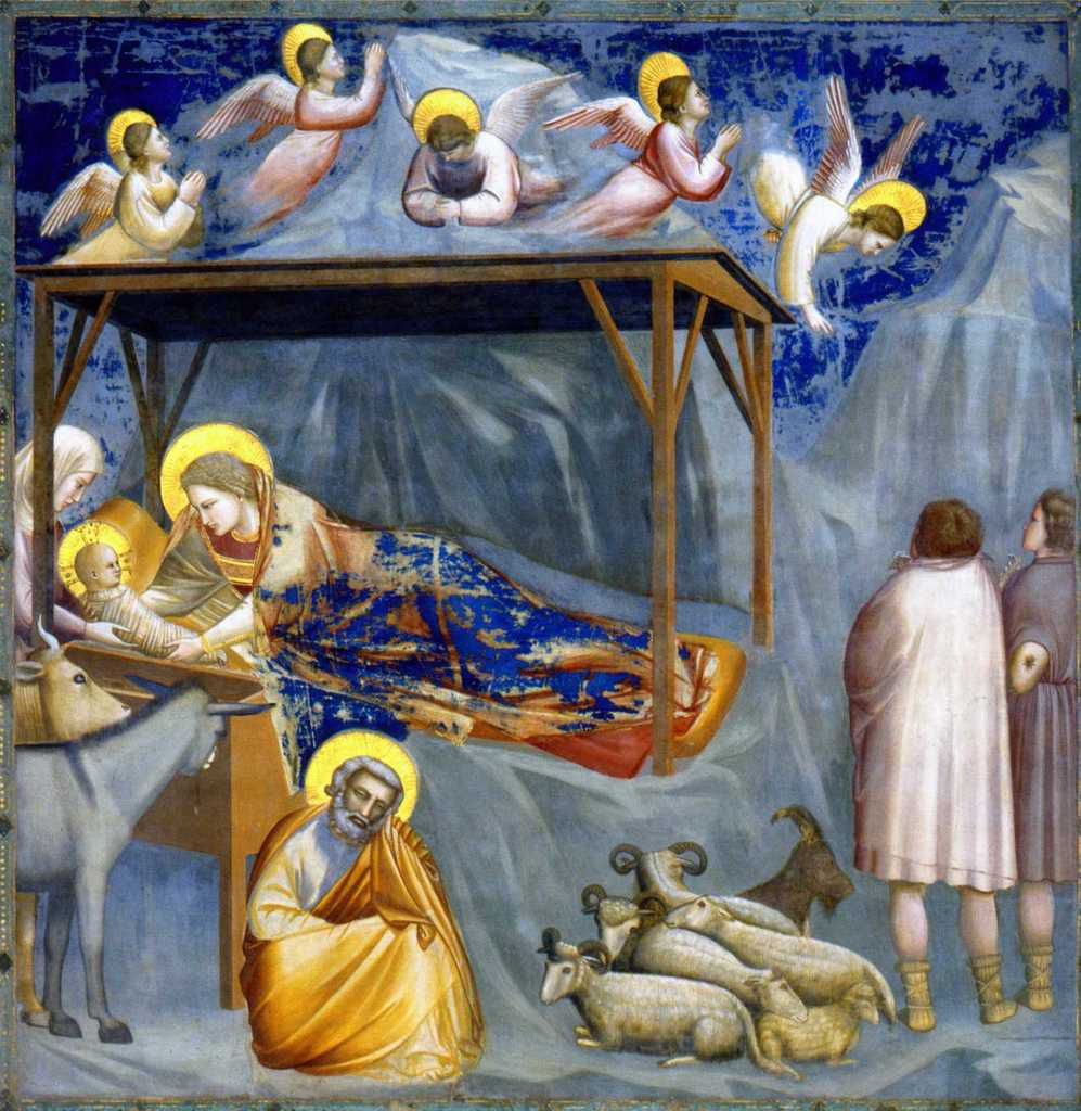 """Nativité"" par Giotto di Bondone (1270-1237), (Photo Wikimedia commons)"