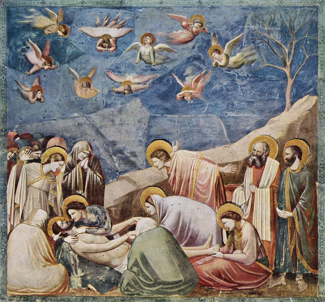"""Lamentation"", par Giotto di Bondone (1270-1337), Capella delli Scrovegni, Padua (photo Wikimedia commons)"