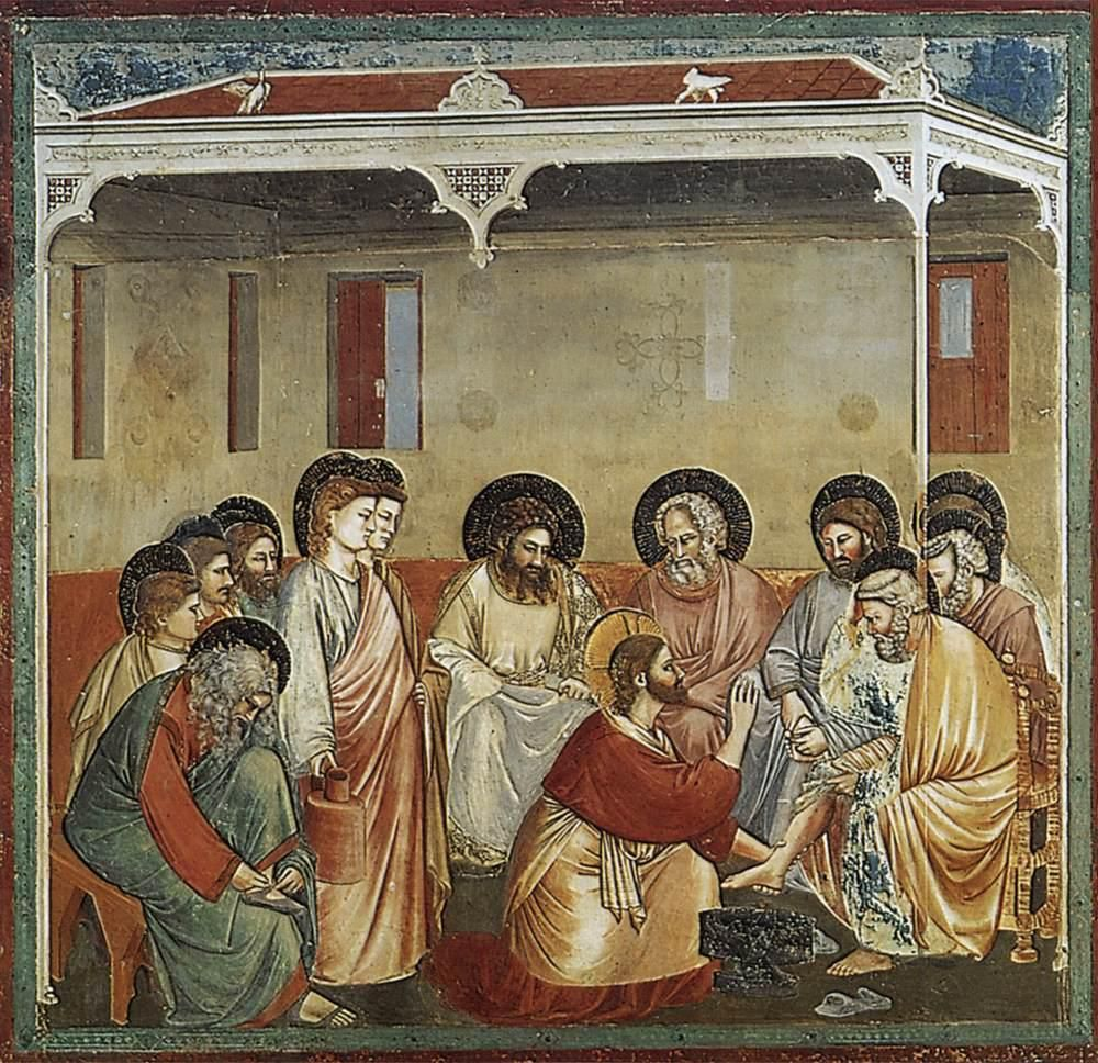 Giotto di Bondone (v. 1267-1337), Le Lavement des pieds. (Photo Wikimedia commons)