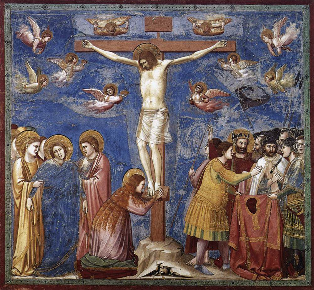 Giotto di Bondone (v. 1267-1337),Crucifixion. (Photo Wikimedia commons)