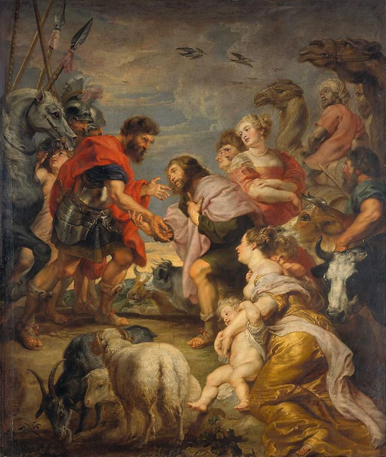 """La Réconciliation d'Esaü et de Jacob""  par Pierre-Paul Rubens (1577-1640) (Photo Wikimedia commons)"