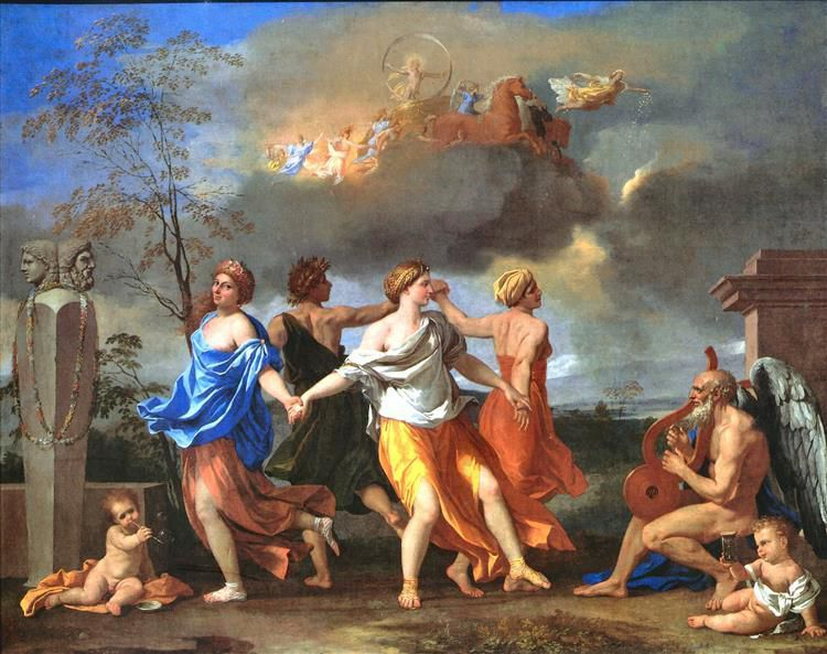 """""""La danse du temps"""" par Nicolas Poussin (1594-1665) (Photo WikiArt)"""