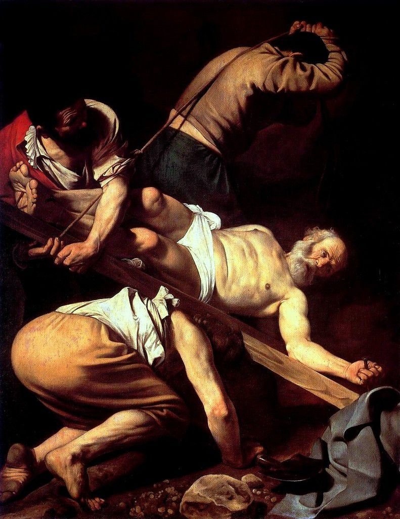 « Le martyr de Saint Pierre » par Le Caravage (photo Wikimedia commons)