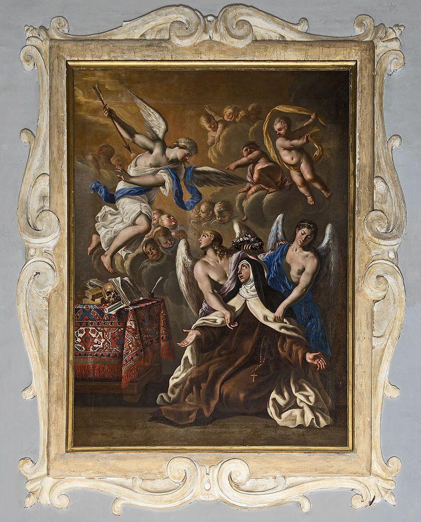 Église Saint-Exupère de Toulouse, La Tranverbération de Sainte Thèrèse d'Avila par Antonio Verrio - XVIIe Siècle