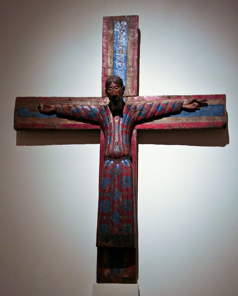 Christ catalan du 12° s. (photo Wikimedia commons)