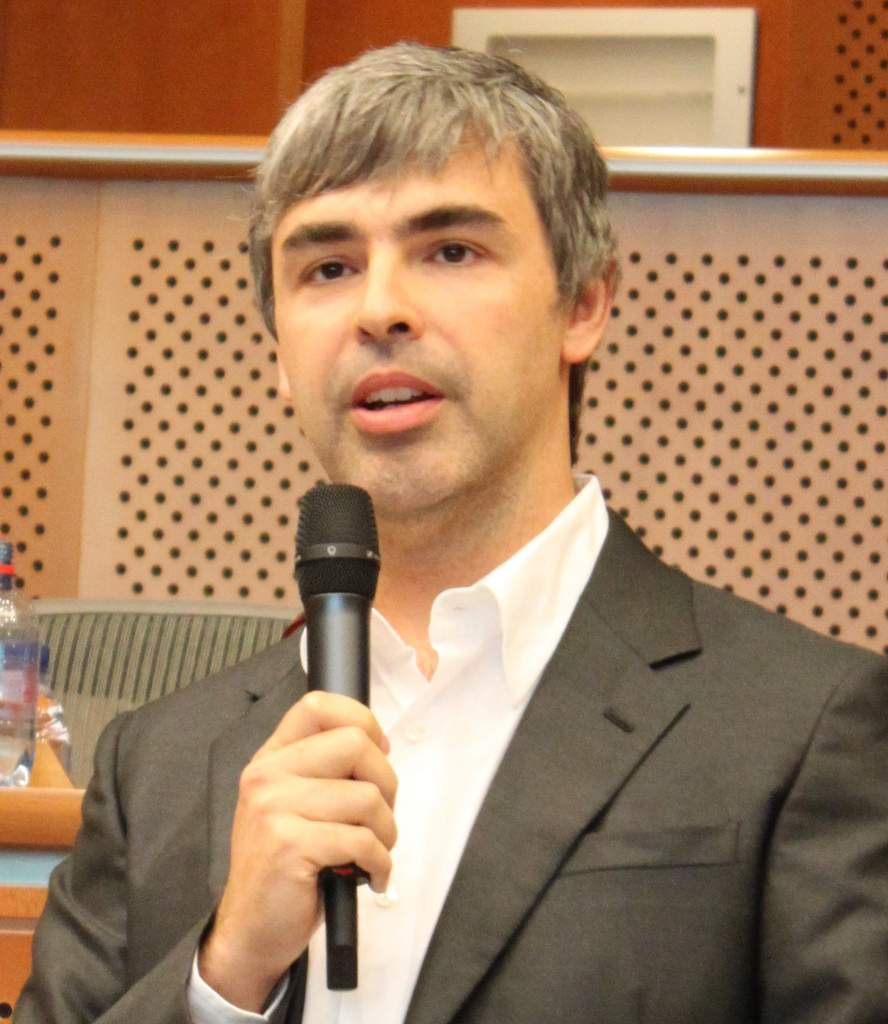 Larry Page au Parlement européen en 2009, cliché Marcin Mycielski, Wikipédia CC,
