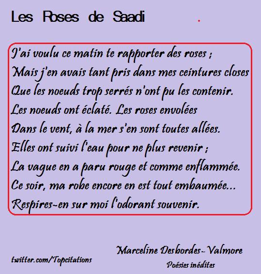 Les roses en leur parfum : 3 poèmes de Marceline Desbordes-Valmore, Leconte de Lisle et Jean de la Taille