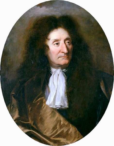 Jean de La Fontaine (1621-1695), portrait par Hyacinthe Rigaud, photo http://www.allposters.com/gallery.asp/, Wikipédia CC.