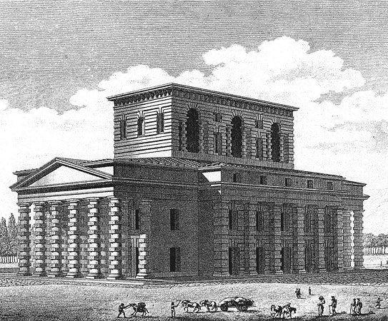 Projet initial de la Maison du Directeur de la Saline royale d'Arc et Senans, par Claude Nicolas Ledoux.