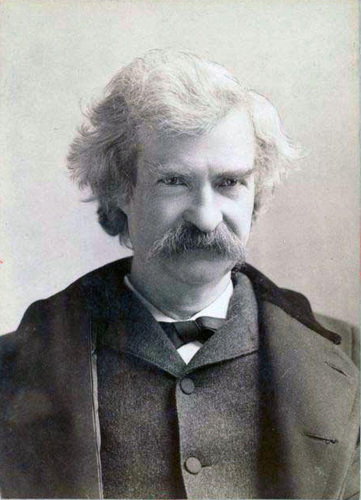 Mark Twain, photo Napoléon Sarony, Wikipédia CC.