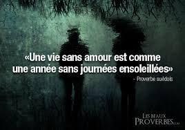 """""""Une vie sans amour est comme une année sans journées ensoleillées."""" (Proverbe suédois)"""