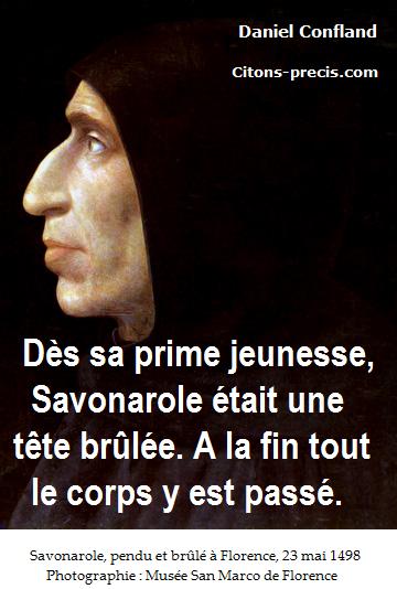 Une citation (apocryphe ?) de Jérôme Savonarole