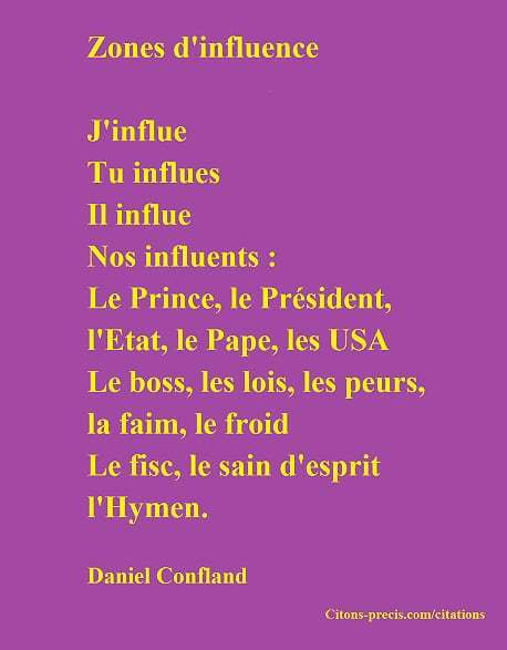 L'influence et les zones d'influence