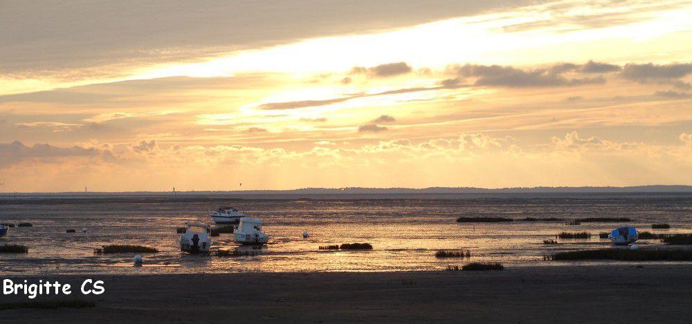 Coucher de soleil à Cassy, sur le Bassin d'Arcachon...