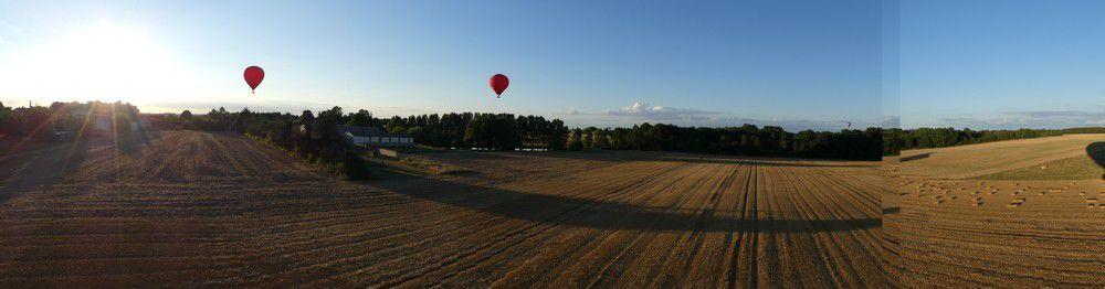 Vol en montgolfière : panoramiques...