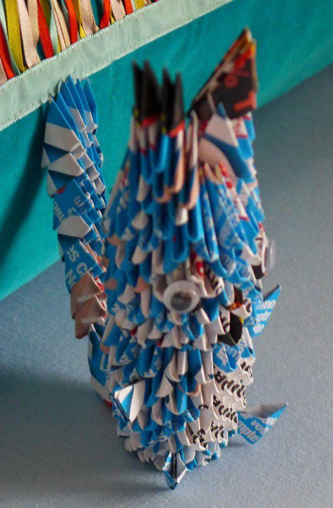Trois petits écureuils en origami modulaire...