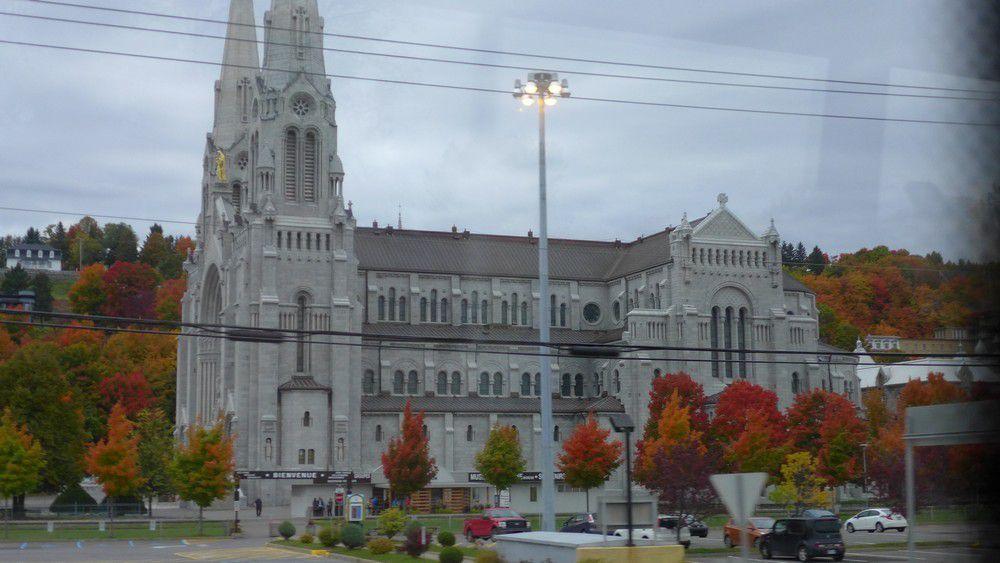 La basilique Sainte-Anne de Beaupré au Québec...