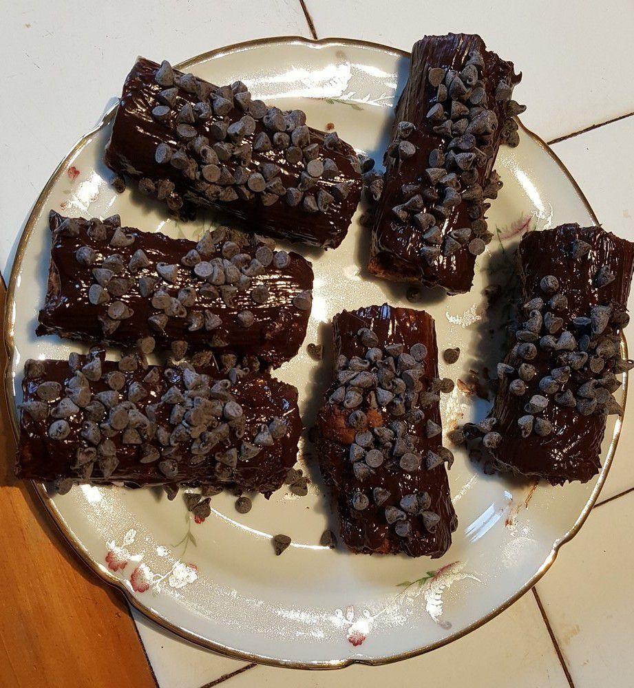 Mini bûches au chocolat...