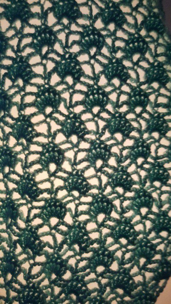 Un nouveau châle au crochet : châle plume de paon...