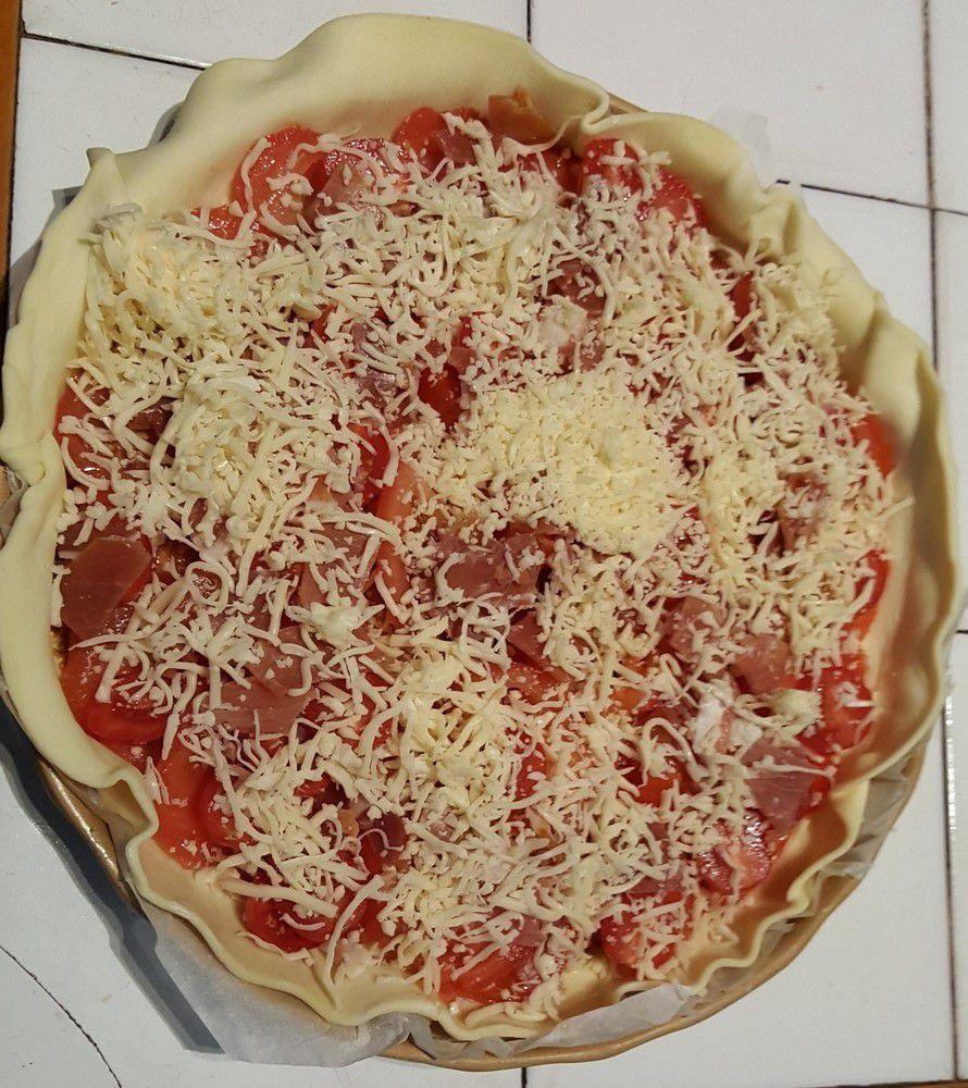 Tarte aux tomates et moutarde à l'ancienne de Manue...
