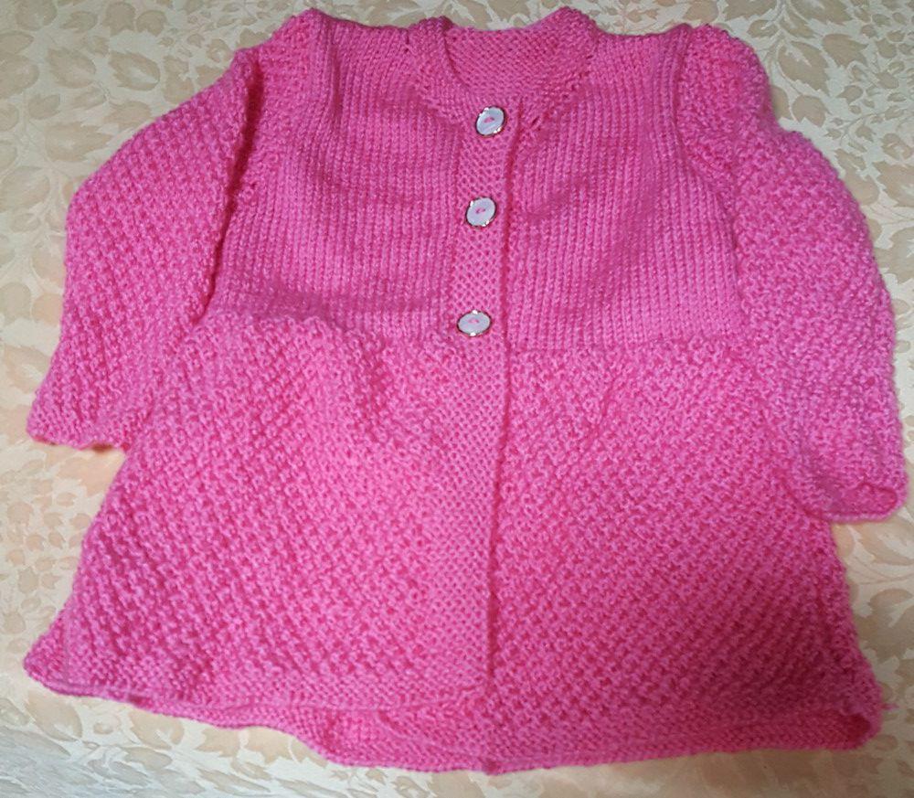 Une veste rose pour Victoire...