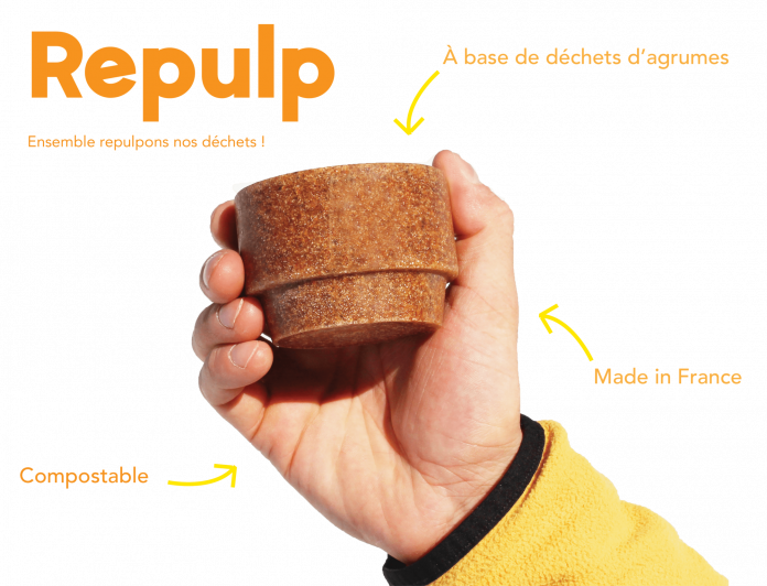Repulp, la tasse en peaux d'orange...