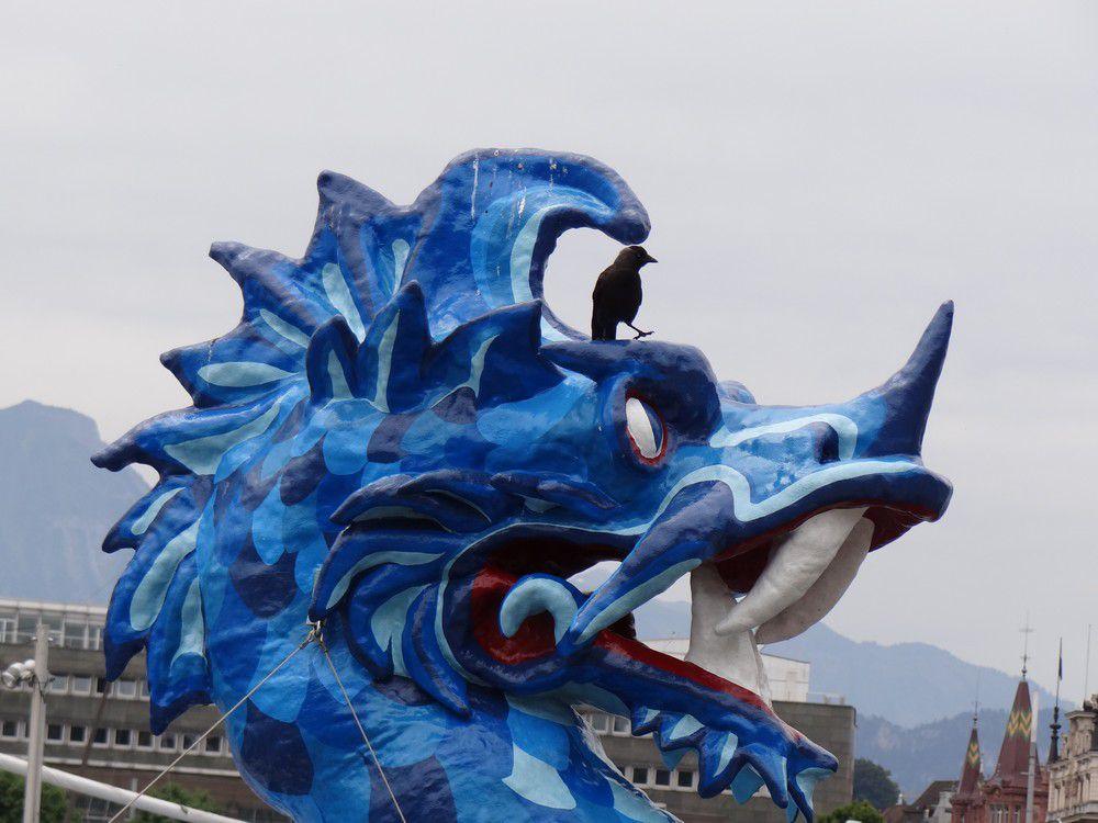 Dragon bleu à Lucerne...