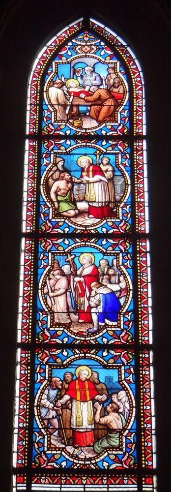 Les vitraux de la cathédrale Saint-Pierre et Saint-Paul de Nantes...