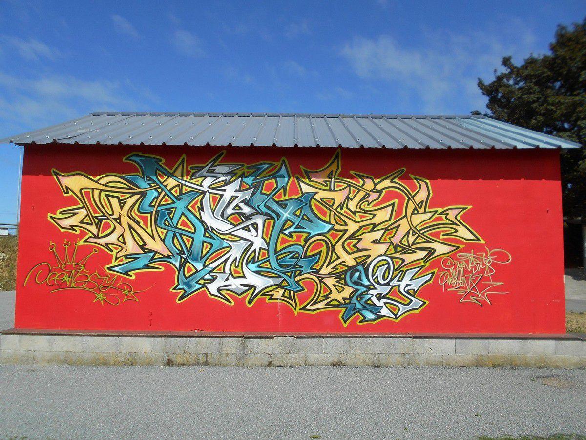 Les graffitis du stade