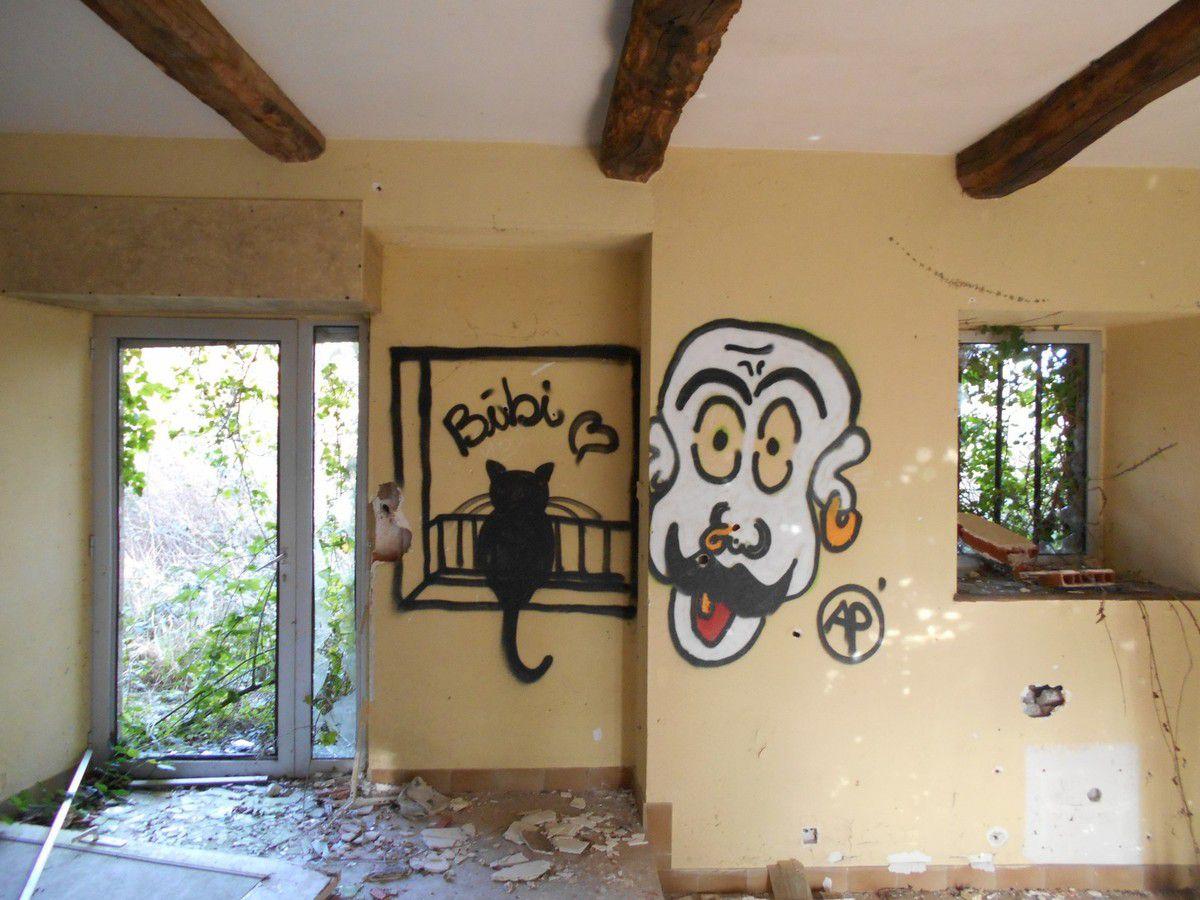 Les graffitis du château abandonné