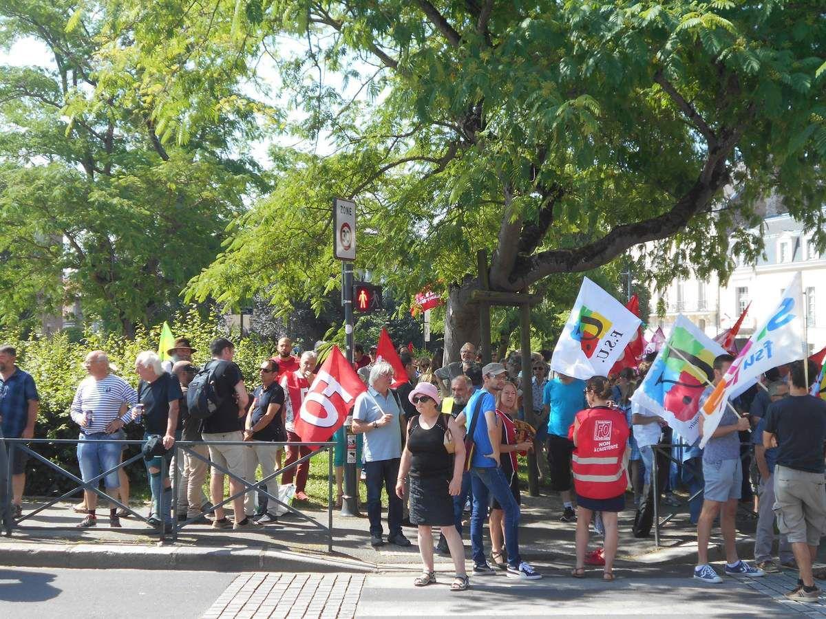 Rennes : Manifestation contre les réformes de Macron