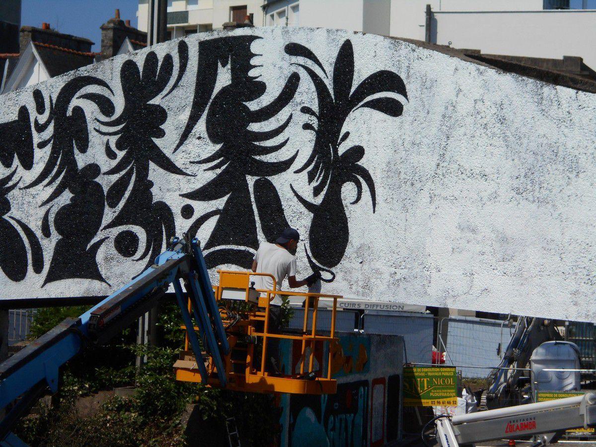 Saint-Brieuc. Les graffeurs à l'assaut des murs du chapeau de gendarme