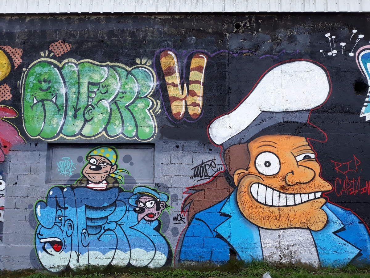 Graffitis dans la ville