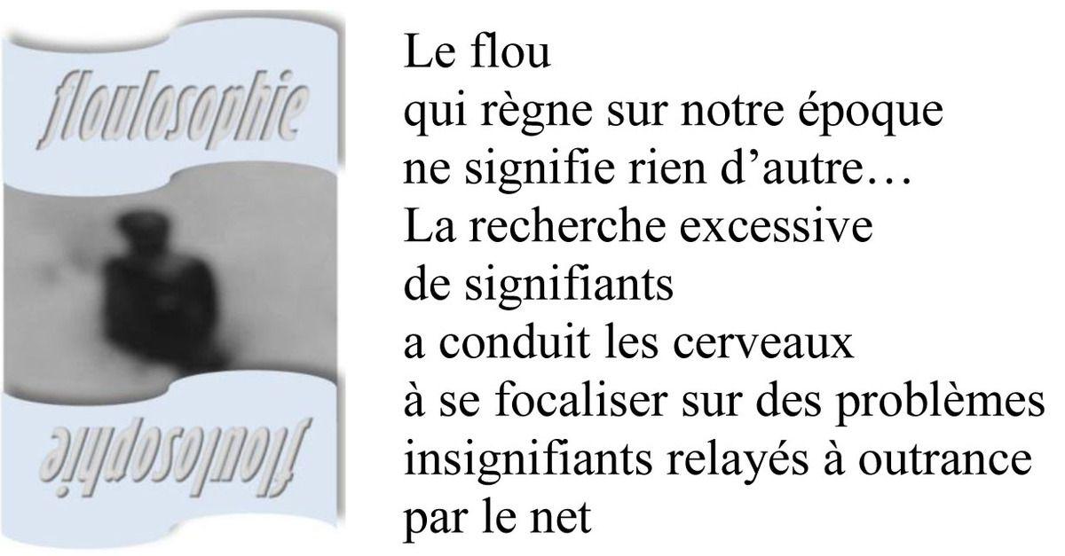 1.  FLOULOSOPHIE  Les aphorismes 1 (80)