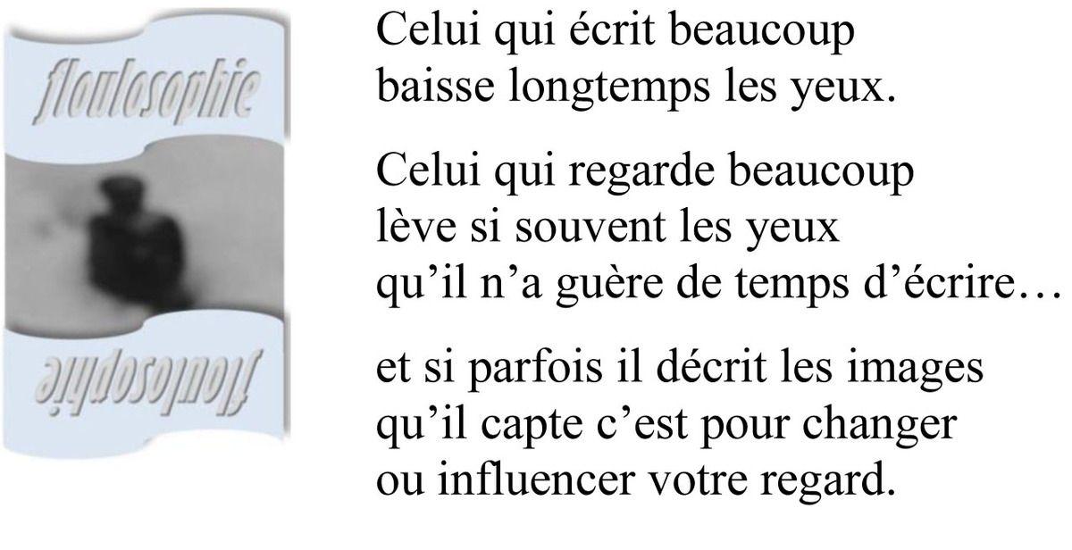 Floulosophie 127... Ecrire ou regarder