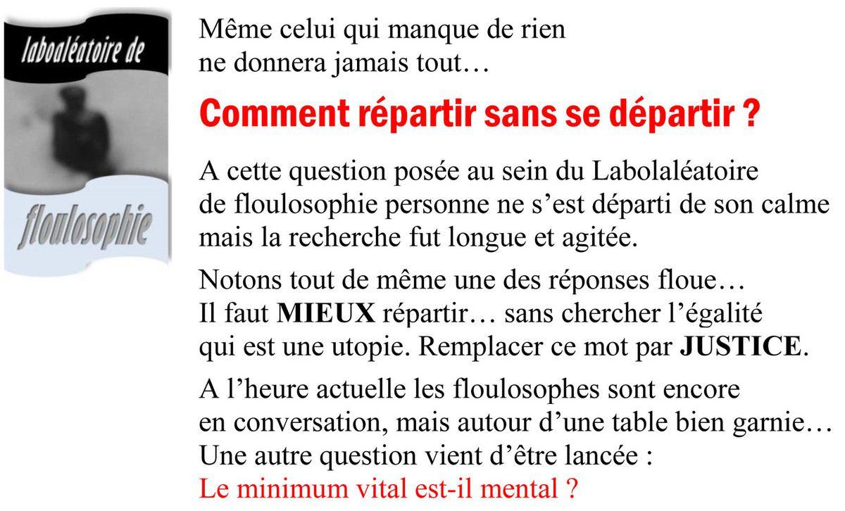 Question éthique et floulosophique...