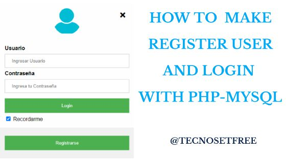 how to make login user with php and mysql
