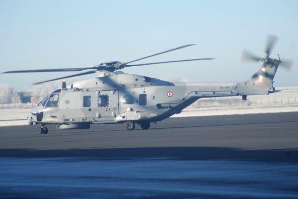 Le NHI NH-90 N°7 de la Marine Nationale, qui termine l'année.
