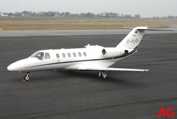 Le Cessna Citation CJ2 D-IPVD.