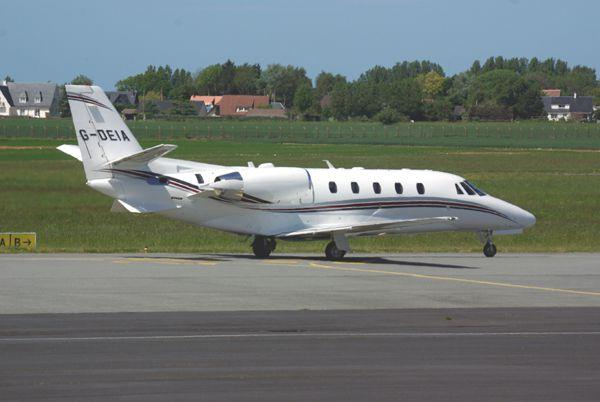 Le Cessna Citation Excel G-DEIA.