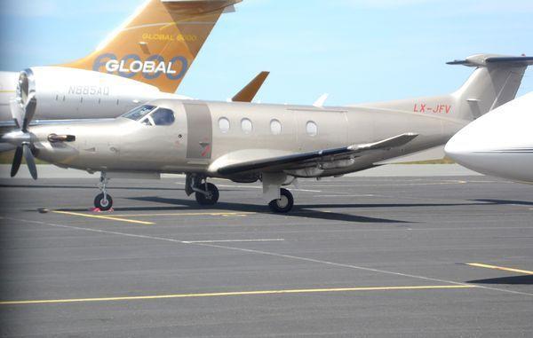Le Pilatus PC-XII LX-JFV. (photo: Michel Liot)