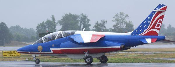 Un des Alpha Jet de la PAF durant le meeting de Saint Dizier cette année.