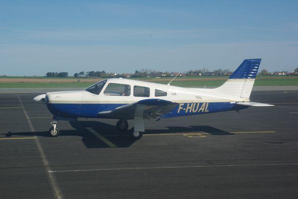 Le Piper PA-28 F-HUAL.