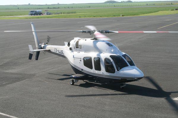 Le Bell 429 Global Ranger T7-LLS. C'est la première que l'on en voit un.
