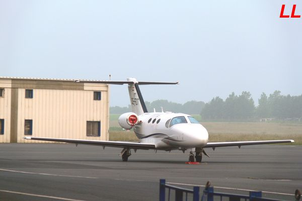 Le Cessna Citation Mustang OE-FDT.