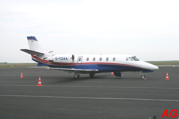 Le Cessna Citation XLS D-CGAA.