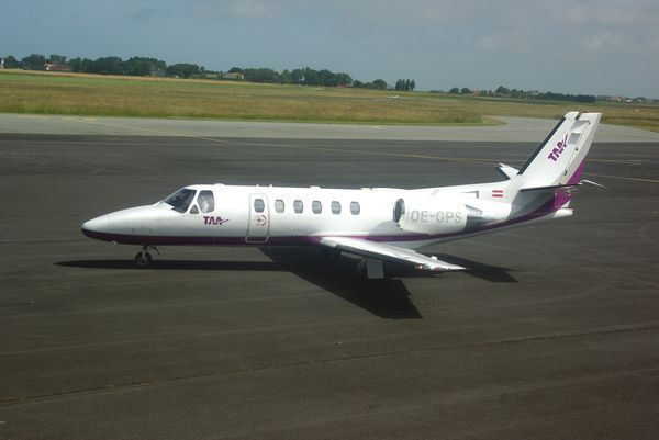 Le Cessna 550 Citation Bravo OE-GPS de Tyrol Air Ambulance.