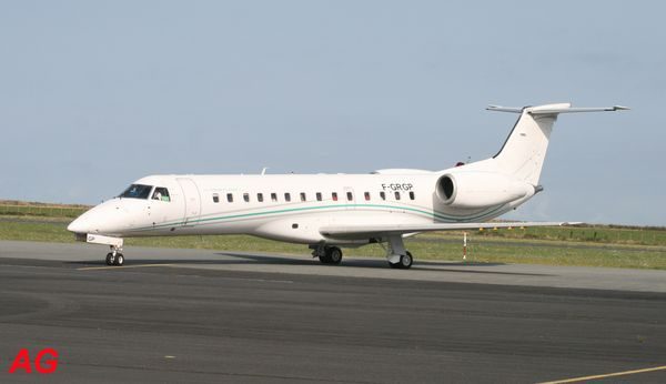 Le Embraer ERJ-135 F-GRGP de Regourd Aviation.